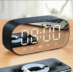 Relógio Digital Despertador com Caixa de Som BLUETOOTH Exbom ORIGINAL