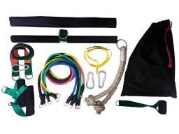 KIT Elásticos Completo com barra, corda e protetor