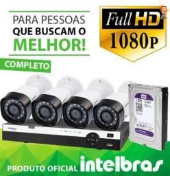 Promoção Kit 4 Câmeras FullHD Intelbras com Acesso Remoto via SmartPhone