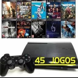 PS3 Pack Com 45 jogos