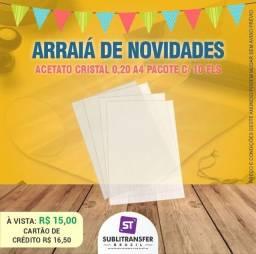 <br>ACETATO CRISTAL A4 - Entrega R$10,00 Para toda Manaus