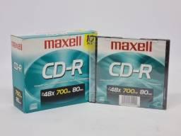 Título do anúncio: Cd-r Maxell 700mb 80min 48x 10 unidades. Garantia e Nf-e. Loja Fisica Curitiba!