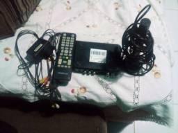 Título do anúncio: Conversor digital com antena e controle