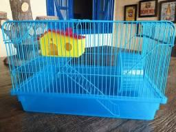 Título do anúncio: Gaiola Simples para Hamster. 2 Andares. Completa com Roda de Exercícios e Casinha