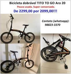 Bicicleta Dobrável Tito to go aro 20