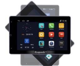 Auto Rádio CD Player Car Ecopower EP-8712 BT/USB/GPS/Wifi - 10 Polegadas<br><br>