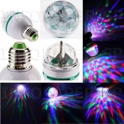 Lampada led giratoria jogo de luz