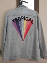 Título do anúncio: Jaqueta jeans com bordado nas costas