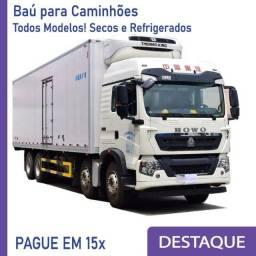 Título do anúncio: Baú Seco Baú Refrigerado para Caminhão novo/seminovo Modelo: B 218
