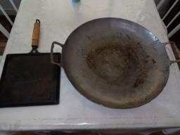 Título do anúncio: Frigideira grande e chapa de ferro