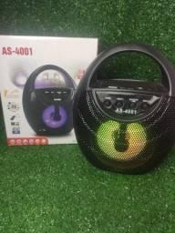 Título do anúncio: Caixa de Som de alça com Bluetooth e Led AS-4001