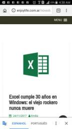 Procuro aulas particulares de Excel.