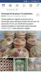Promoção kit de pizzas 15 centímetros
