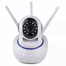 Camera Ip Wireless Sem Fio Wifi Hd 3 Antenas Sensor Noturna (NOVO)