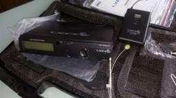 Microfone auricular + lapela sem fio - wireless UHF- Lyco - Novo