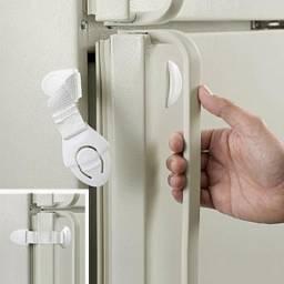 Promoção Trava protetiva portas geladeiras etc para bebês e crianças