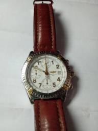 ab7c5287884 Breilteng cronografo aço couro