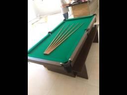 Mesa de Sinuca Dois Pés Encanto Cor Tabaco Tecido Ver Modelo ENT3456