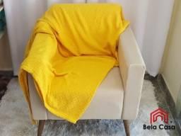 Manta Amarela para Sofá 2,40 x 1,60m