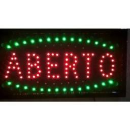 Placa Painel De Led Letreiro Luminoso 110V Aberto