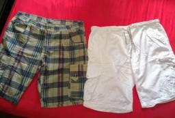 ShOrts masculino semi novos ( Tam. 52 ) os dois por 50 reais