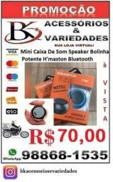 Mini Caixa De Som Speaker Bolinha Potente H'maston Bluetooth-(Loja BK Variedades)