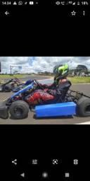 Kart chassis techspeed ano 2001 com motor fortex 6,5 hp praticamente zero comprar usado  Uberlândia