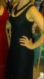 Vestido Longo renda preto / P