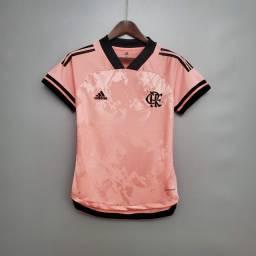 Camisa Rosa Flamengo Feminina 2020