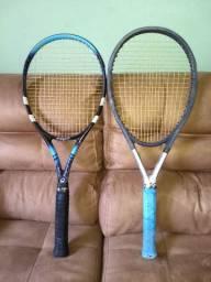 Raquetes 01 profissional e outra iniciante.