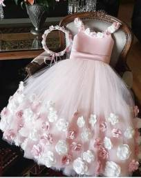 Vestido para florista princesa luxo sob medidas e encomenda