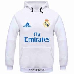 Moletom flanelado adulto Real Madrid