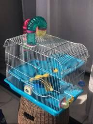 Gaiola para hamster com gaiola de transporte