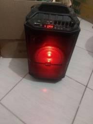 Caixa de Som Amplificadora Goldentec GT Sound Pro com Bluetooth Portátil Preta MG689