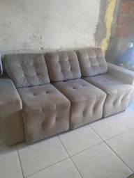 Título do anúncio: Vendo sofá retrátil 3 lugares