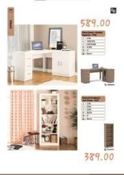 Título do anúncio: Mesa canto + armário estantes