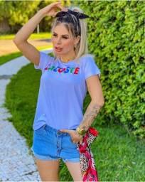 Camisa lacoste feminina, tshirt atacado e varejo, varias marcas
