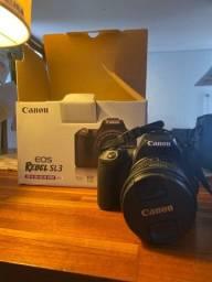 Título do anúncio: Câmera Eos Rebel SL3 com lente EF-s 18-55 mm