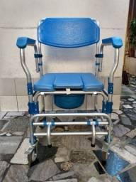 Cadeira de banho em alumínio, Dellamed, até 150 kg