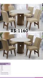 Título do anúncio: Mesa de jantar com cadeiras