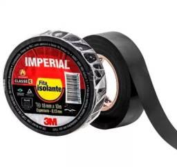 Fita isolante Imperial 18MM 10 metros preta 3M