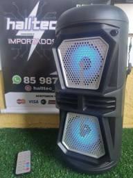 Título do anúncio: Caixa de som Bluetooth LED 4x2 Altofalante com alça