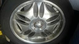 Roda aro 18 Polida com borda estrela VW gol jogo 4X100 Ford
