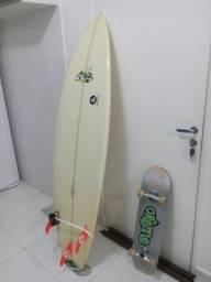 Prancha surf + skate + camera
