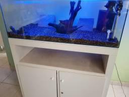 Vendo aquário COMPLETO com MÓVEL