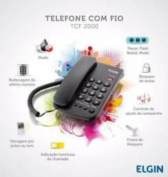 Telefone Fio Fixo Mesa Elgin Tcf 2000 Chave E Teclas Grande