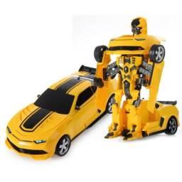 Carrinho Transformes De Controle Remoto Robo Bumblebee