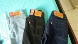 3 calças jeans novas Levis 505 masculina