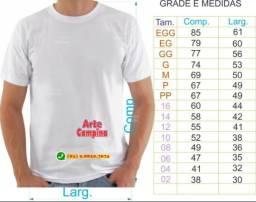 Camisas lisas para sublimação e Serigrafia a parti de $8,00