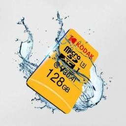 Cartão Micro Sd 128gb Kodak U3 A1 V30 4k + Brinde
